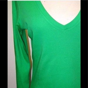 Lilly Pulitzer Kelly Green long sleeve cotton tee